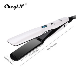 Image 5 - 3D Rotating Hair Straightener Box Packaging Professional Hair Styling Iron Fast Heating Flat Iron Wide Heating Plate LCD Screen