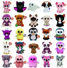 Ty Beanie Boos Big Eyes Owl Unicorn Cat Elephant Penguin Leopard Foxy Dog Rabbit Giraffe Panda Monkey Stuffed Animals Plush Toys(China)