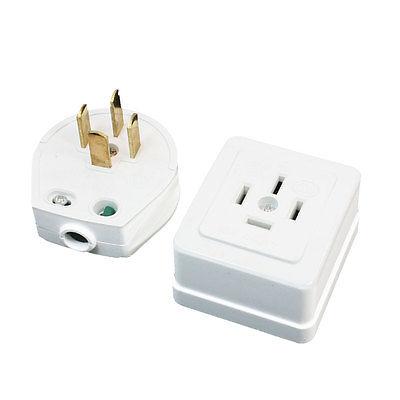 16A/25A/32A AC 440V Three 3 Phase Four 4 Wire 3P4W Industrial Plug Socket Set White 1SET ac 440v 60a three 3 phase four 4 wire 3p 4w ceramic industrial socket plug set