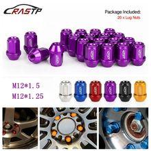 RASTP - New Arrived 20PCS  Racing Forged 7075-T6 Lightweight Lug Nuts 35MM Wheel Nut M12x1.5 M12x1.25 Car Accessory RS-LN045