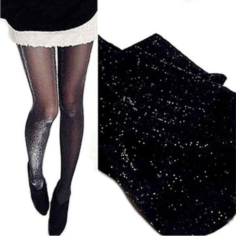 Jeseca Sexy Shinny Tights Silver High Stockings Hosiery Lingerie 20D Pantyhose Colorful Lady Thin Female Tights Lingerie