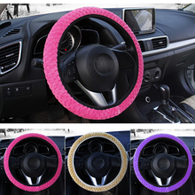 Universele Zachte Warme Pluche Covers Auto Stuurhoes Auto-styling Parel Fluwelen Auto Decoratie Winter 4 Kleuren(China)