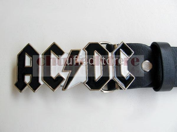 - 20pcs Xmas Gift Ac&DC Star Rock Band Heavy Plush Metal buckle belt B121