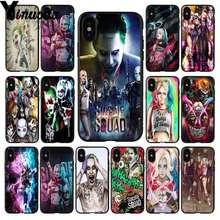 Yinuoda Suicide Squad Joker Harley Quinn Gomma Morbida nero Cassa Del  Telefono per il iphone di 8b7224bcd87