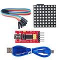 Полный цвет RGB 8*8 60 м LED Матричный экран Водитель Борту Комплект с RS232 Последовательный Модуль Dupond Кабеля FZ0600