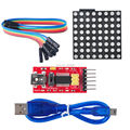 Full color RGB 8 * 8 60m LED Dot Matrix Screen Driver Board Kit with RS232 Serial Module Dupond Cable FZ0600