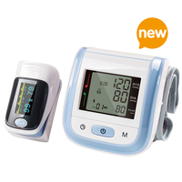 Yongrow Finger Pulse Oximeter And Wrist Watch Blood Pressure Monitor Digital Wrist Blood Pressure Meter With
