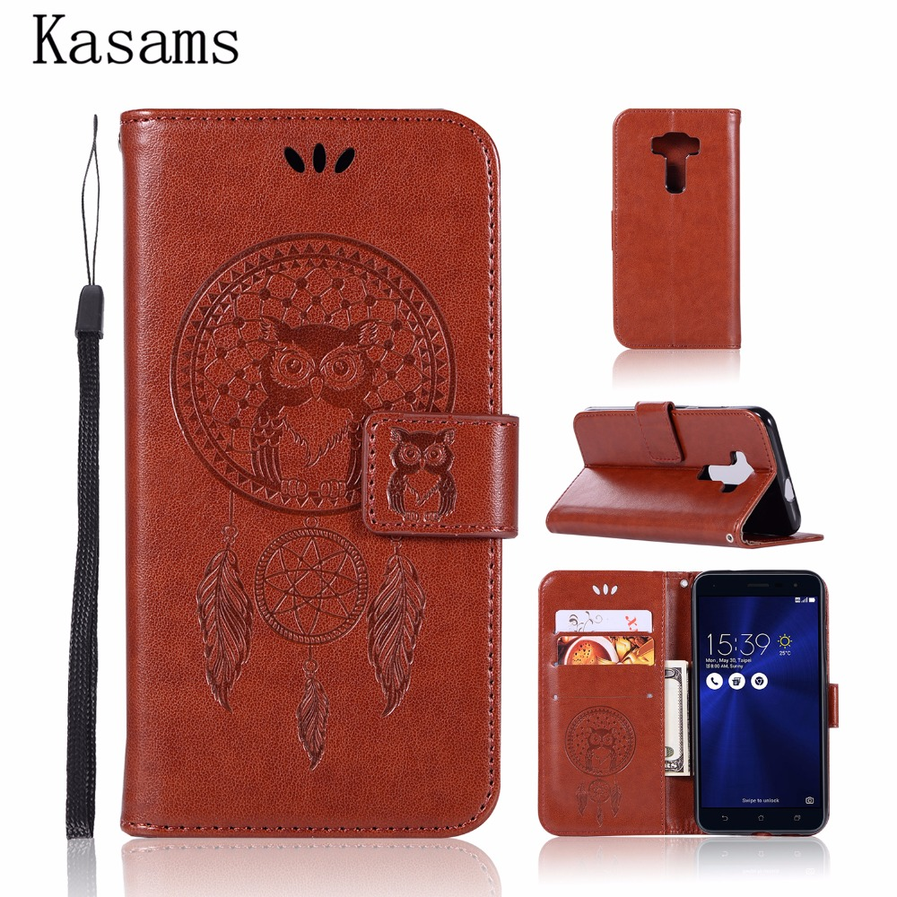 Forceful For Asus Zenfone 3 Max Zc520tl Zc553kl Leather Case For Zenfone 3 Laser Zc551kl Flip Cover Wallet Stand Pattern Owl Phone Shell Traveling Consumer Electronics