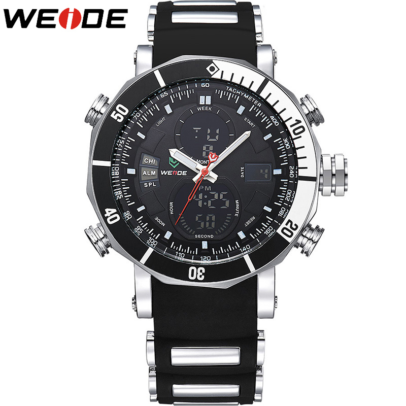 где купить 2017 Men Watches WEIDE Top Luxury Brand Men's Quartz Analog LED Clock Army Military Sport Wrist Watch Male relogio masculino по лучшей цене