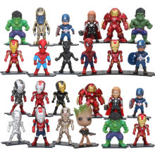 6 pçs/set Endgame de Super-heróis Vingadores Capitão América Hulk Ironman Spiderman Black Panther Thanos Thor Homem Árvore figura Toy Dolls(China)