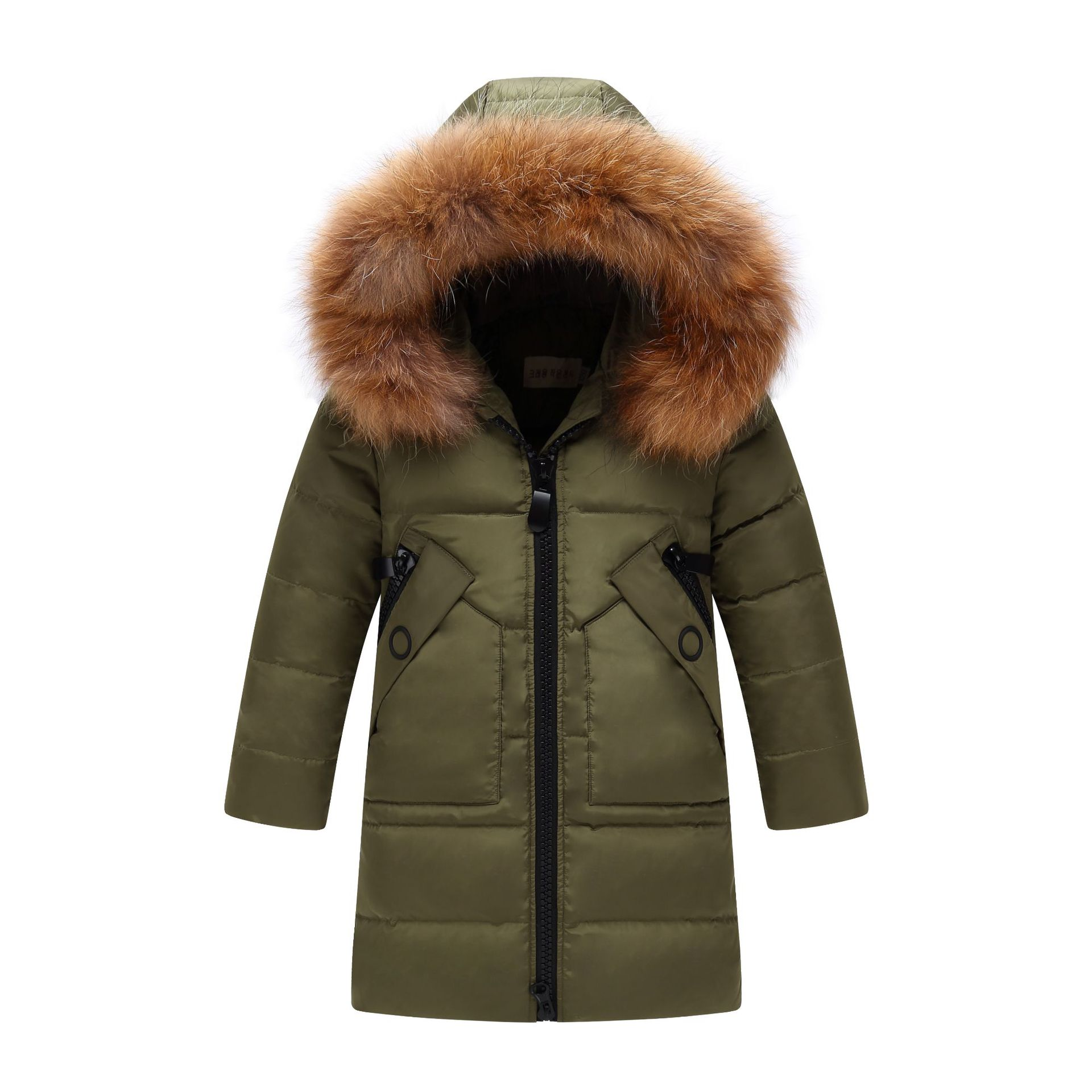 Image 3 - Children Winter Jacket Fur Collar Kids Duck Down Parkas Coat For Teens Girl 6 8 10 12 14 Years Outerwar Coat Dwq352-in Down & Parkas from Mother & Kids