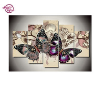 ANGEL S HAND Butterfly Flowers Home Decoration DIY Diamond Painting Cross Stitch Wall Decoration Diamond Embroidery