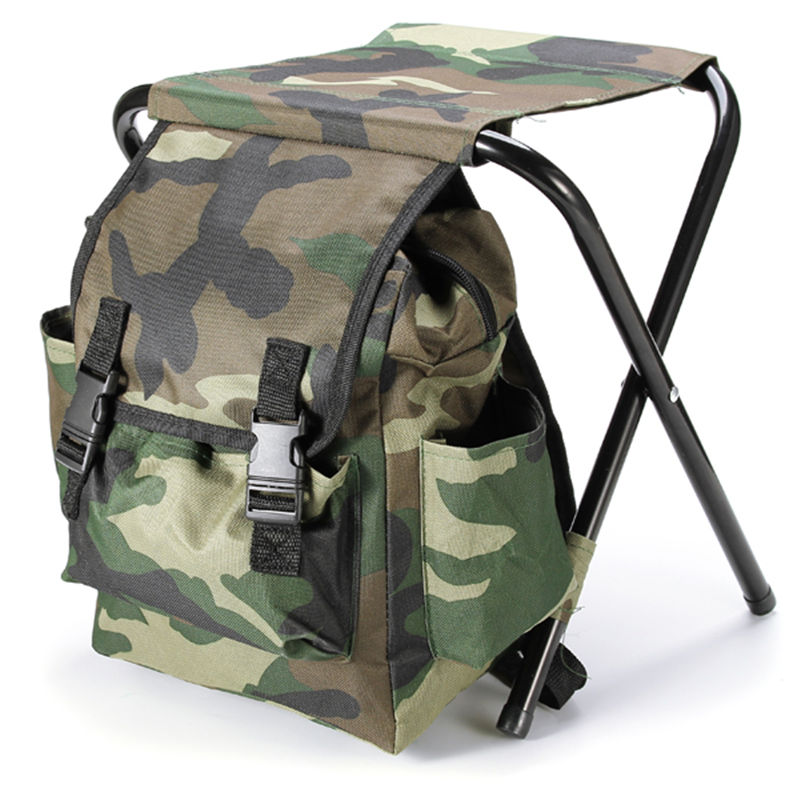 Fishing Chair Bag Outdoor Portable Folding Stool Backpack