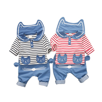 1 3 Yrs Baby Boys Spring Autumn Cotton Outfit Sailor Navy Style Stripes Long Sleeve T
