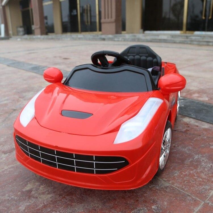 Livraison Gratuite! Offre spéciale avec télécommande enfants tour électrique sur voiture véhicule quatre roues motrices bébé jouets assis