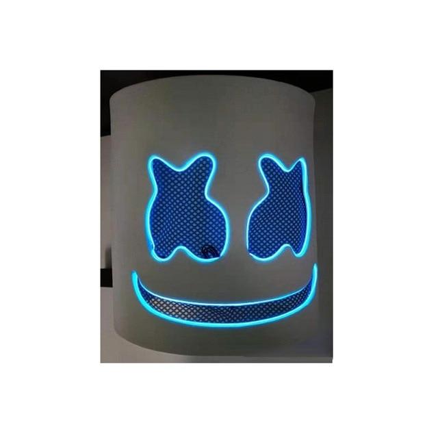 DJ LED Luminous Masks Helmet Mask Cosplay Prop DJ Halloween Party Latex Masks LED Party Bar Luminous Mask 5