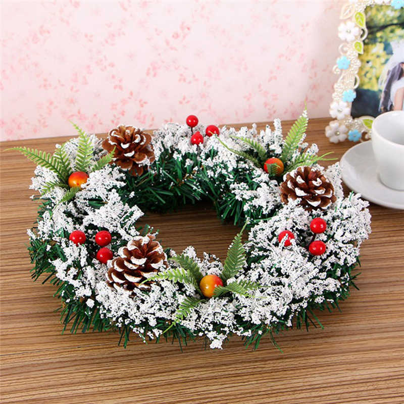 2018 handmade Wall Hanging Christmas Wreath Decoration For Xmas Party Door Garland Ornament Perfect window decoration #2n7 (4)