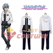 Strike the Blood Kojo Akatsuki Hoodie Suit Uniform For Men Anime Cosplay Costume