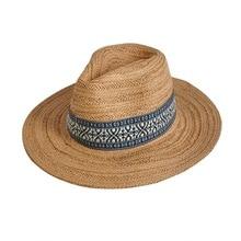 WHLYZ YW Casual Panama Cappelli da Sole Degli Uomini di Paglia Della  Spiaggia di Estate di Modo Cappelli Per Le Donne Cappellini. 58efc77af283