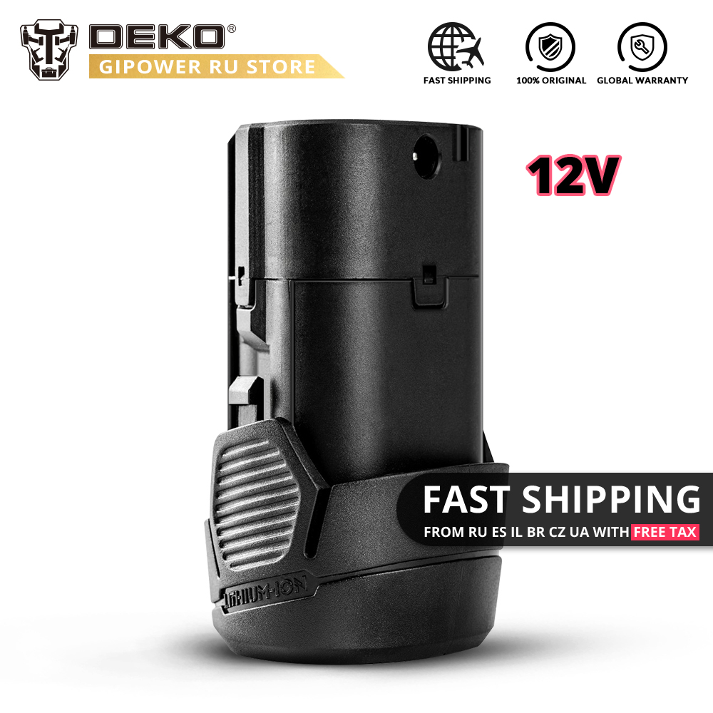DEKO 12V MAX 1300mAh Lithium Battery For GCD12DU3 Cordless Drill