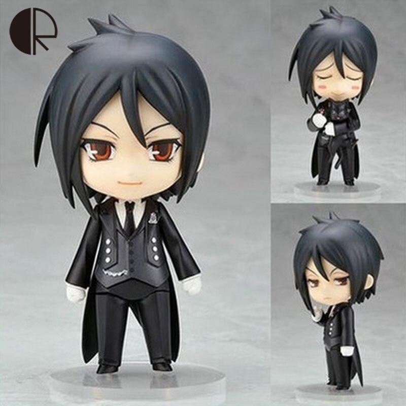 цена на 10cm Kuroshitsuji Black Butler Sebastian Michaelis PVC Action Figure Collection Model Toys HT3398