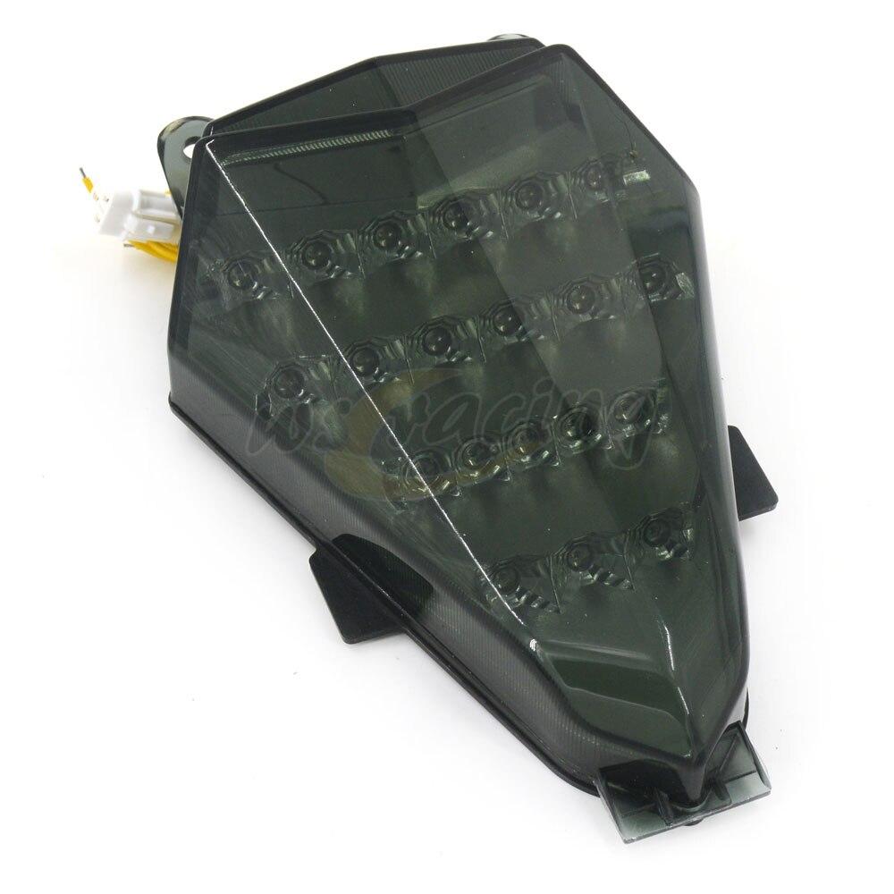 Moto LED Arrière Clignotants Tail Feu Stop Lampes Intégré Pour YAMAHA YZF R6 2006-2007 2006 2007