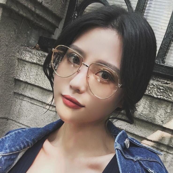 2017 عرض خاص جديد سبائك gafas ستار النظارات إطار نظارات شفافة بارد سهل مع ينس و مربع كبير مستدير الوجه ms الحجم