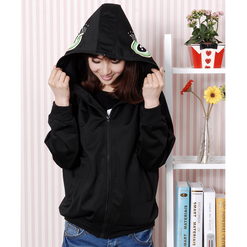 New Vocaloid Cosplay Black Rock Shooter Hoodies Sweatshirts Cosplay Costume Casual Coat Vocaloid Clothing Unisex Cardigan Jacket