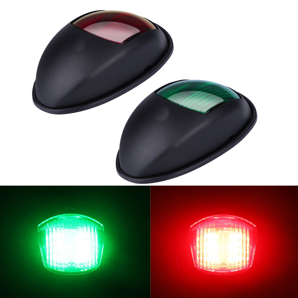 Boat Parts & Accessories Jeazea 2pcs Dc12v 8w Green Red Marine Navigation Led Light Starboard Port Side Light For Boat Yacht Skeeter