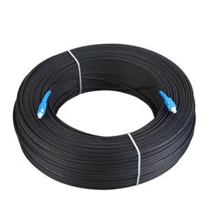 Image 2 - 500m outdoor SC Ftth Dromp Cable Simplex Singlemode G657A Fiber optic patch cord FTTH fiber optic jumper Cable