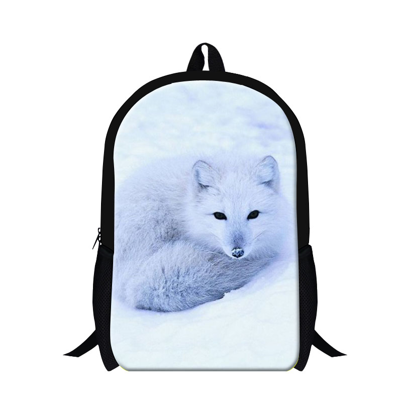 Dispalang trendy arctic fox print school backpacks for teenager girls cool animal back pack for women 16 inch custom schoolbag