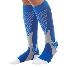 Men Women Leg Support Stretch Compression Socks Unisex Below Knee