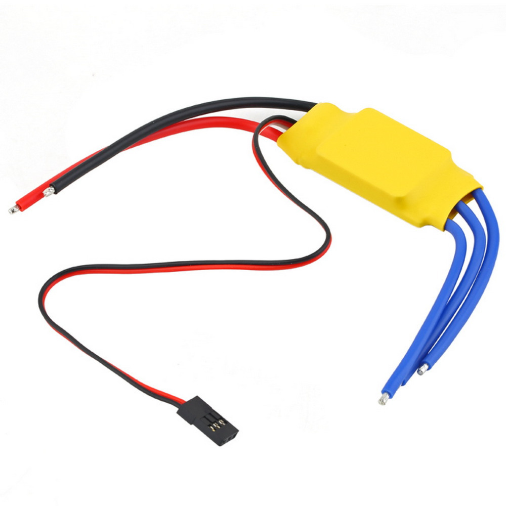 OCDAY 1pcs 30A Brushless RC BEC ESC Brushless Motor Speed Controller T-rex 450 V2 Helicopter Boat Airplanes Parts & Accessories 3650 3900kv 4p sensorless brushless motor 60a brushless elec speed controller esc w 5 8v 3a switch mode bec for 1 10 rc car