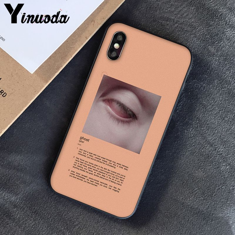 Yinuoda, розовый, эстетический, песни, лирика, эстетический, мягкий силиконовый чехол для телефона, чехол для iPhone 8, 7, 6, 6 S, 6 Plus, X, XS, MAX, 5, 5S, SE, XR, 10 - Цвет: A5