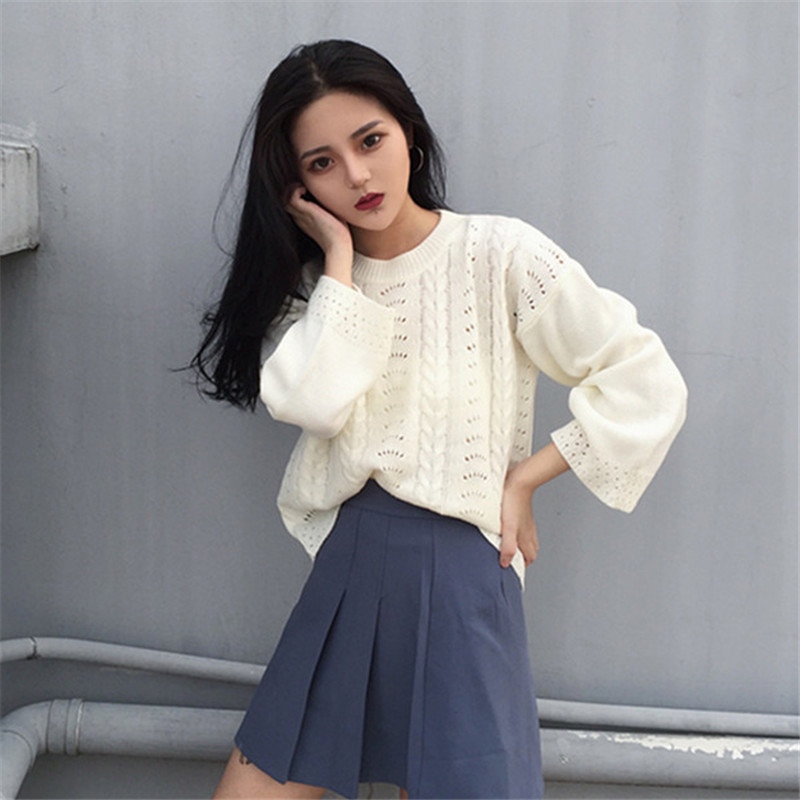 Woherb Autumn Winter Women Sweaters 2018 Korean Fashion Casual Loose  Pullovers Long Sleeve Ladies Knitted Sweater 41645,in Pullovers from Women\u0027s  Clothing