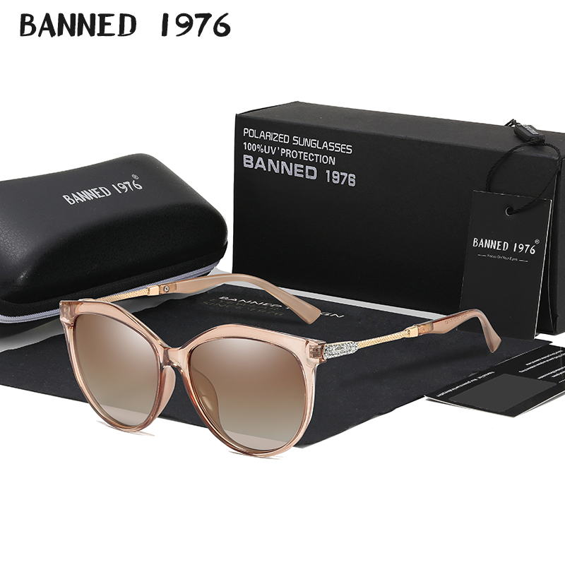 2019 New Luxury HD Polarized Women Sunglasses Fashion Round Ladies Vintage Brand Design cat eye woman Female Sun Glasses oculos 1