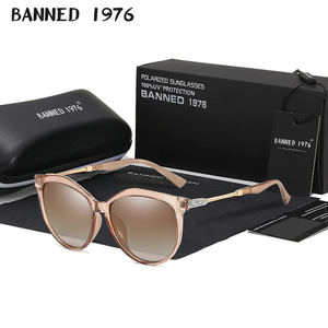 2019 New Luxury HD Polarized Women Sunglasses Fashion Round Ladies Vintage Brand Design cat eye woman Female Sun Glasses oculos(China)