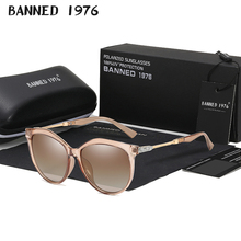 Очки солнцезащитные HD поляризационные женские, роскошные модные круглые брендовые дизайнерские солнечные очки «кошачий глаз» в винтажном ...