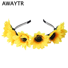 f3520b3cbb503 Buy sunflower for headbands and get free shipping on AliExpress.com