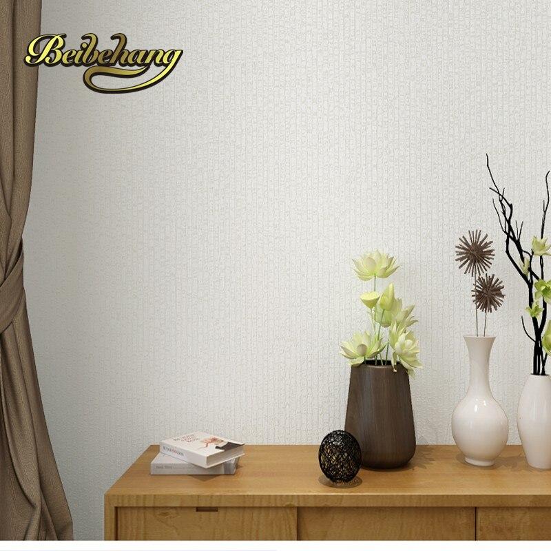 Beibehang plaine classique argent gris rayures verticales papier peint texturé papier peint en relief pour décoration de chambre papier de parede - 2