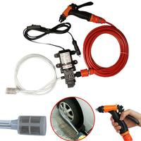 DC 12V Portable Car High Pressure Washer 70W 130PSI High Pressure Self Priming Car Wash Water