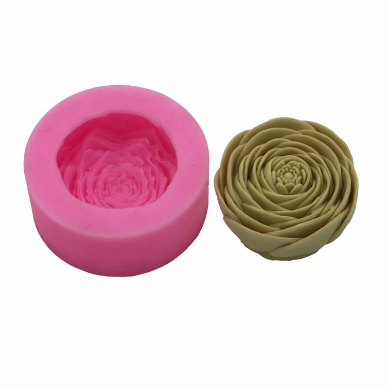 DIY Chocolate Candy Mold 3D Flower Silicone Candle Soap Mould Handmade Clay Craft Art Decorating Soap Candle Making Molds