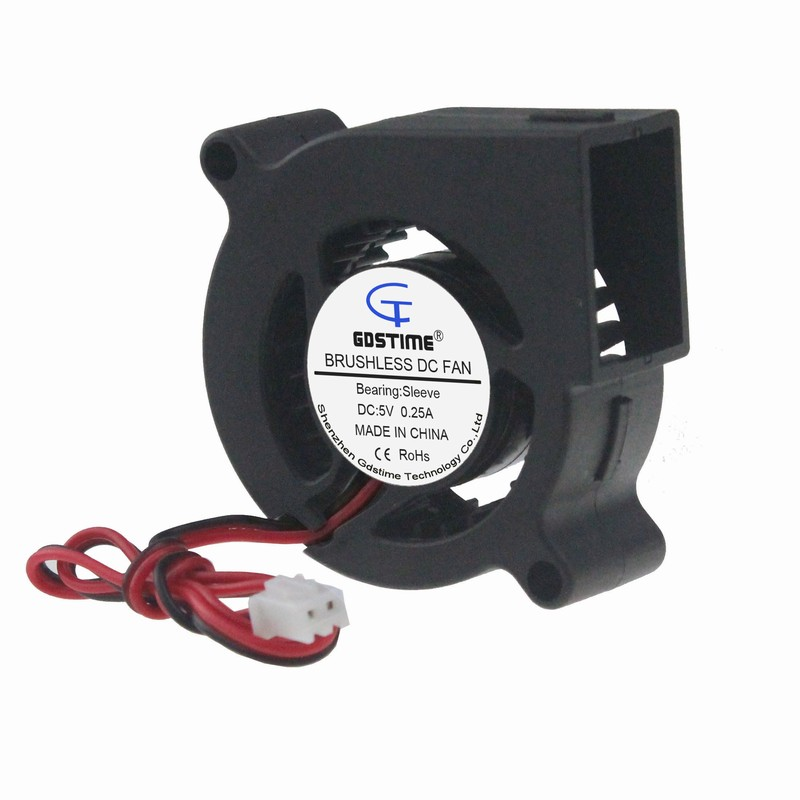 1 Piece Gdstime 5cm Blower Fan 50mm DC 5V Machine Equitment Exhaust Computer Case Cooling Fan 50x50x20mm 5020 PC CPU Cooler gdstime 10 pcs dc 12v 14025 pc case cooling fan 140mm x 25mm 14cm 2 wire 2pin connector computer 140x140x25mm