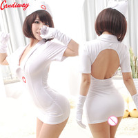 Candiway Hot Sexy Nurse Style Dress Suit Cosplay Costume Lady Uniform Temptation Costumes Porn Adult Sex