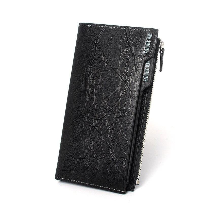 GOOG.YU Pattern Wallet Cowhide Long Famous Men Luxury 100%Genuine-Leather Brand Original