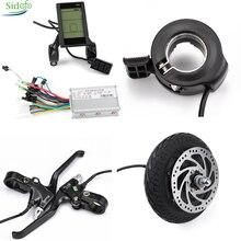 8inch e-bike Motor Kit 24v 36v 48v electric Bicycle Brushless DC controller 350/500W USB LCD Escooter Finger Throttle Brake