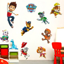 Paw Patrol Dogs 3d Sticker WallpaperJuguete Kids Room Stickers Decoration PVC Action Figure Children Anime for Wallpaper SS36