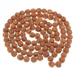 Image 3 - Pulsera de Meditación Budista para práctica de meditación, Rudraksha Japa Mala Natural, 108 + 1 Cuenta, oración hindú