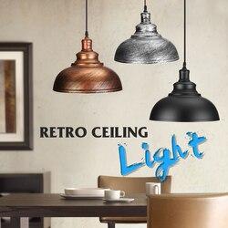 Vintage Edison luz de la pantalla E27 Industrial Retro Base de lámpara Loft de hierro colgante luces de iluminación