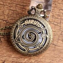 Anime Naruto Logo Themed Pocket Watch